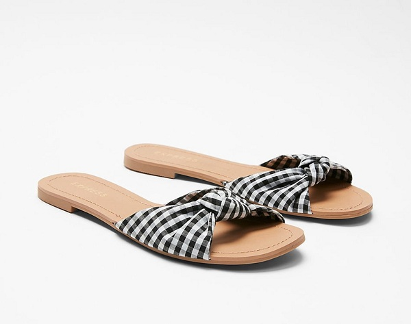 express-gingham-knot-slide-sandals.png
